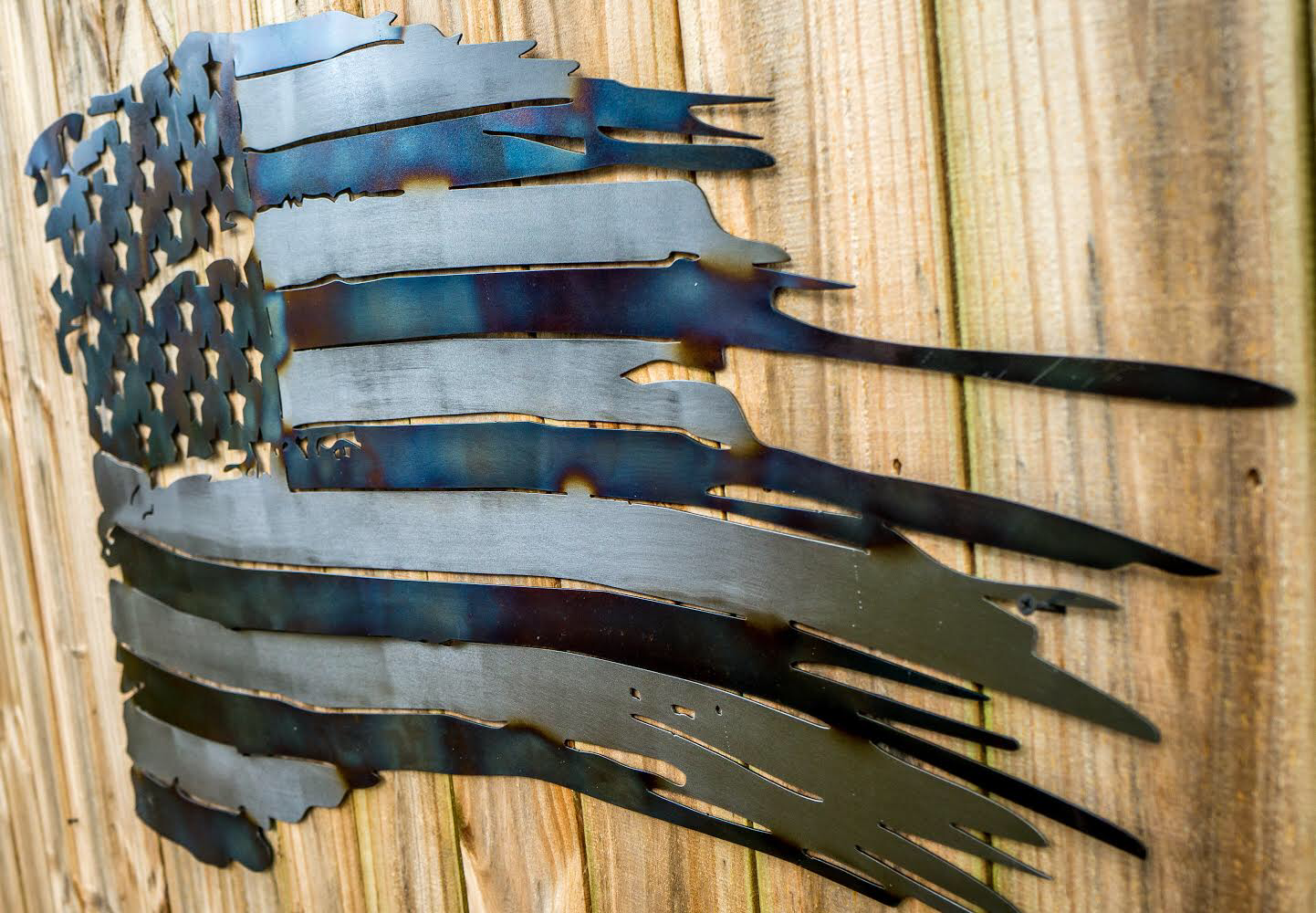 Metal American Battle Flag