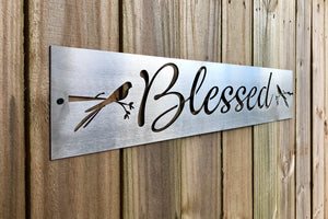 Blessed welcome sign