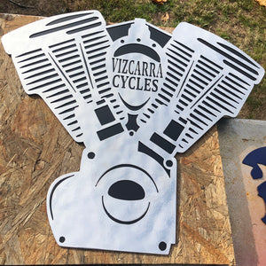 custom motorcycle sign