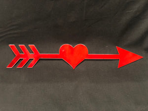 Heart Arrow home decor sign