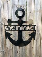 Personalized Metal Anchor Monogram