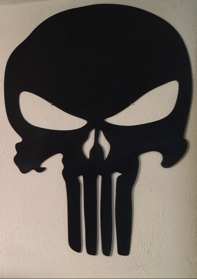 Matte Black Punisher Skull
