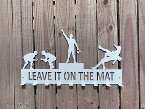 "Wrestling Medal Hanger - ""Leave it on the Mat"""