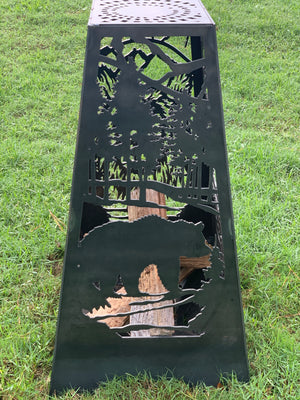Bear Fire Pit - Rectangle Tall
