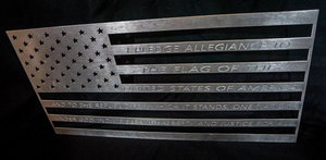 polished pledge of allegiance American flag
