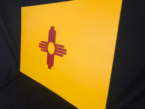 New Mexico State flag metal art