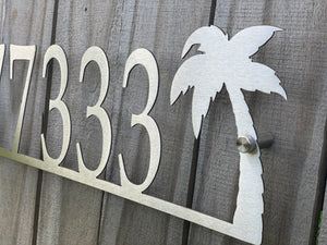 Palm Tree Address Sign - Custom
