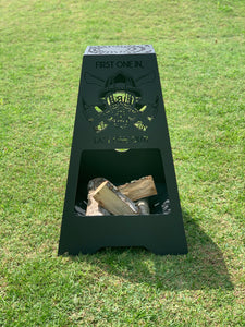 Firefighter Fire Pit - Rectangle Tall