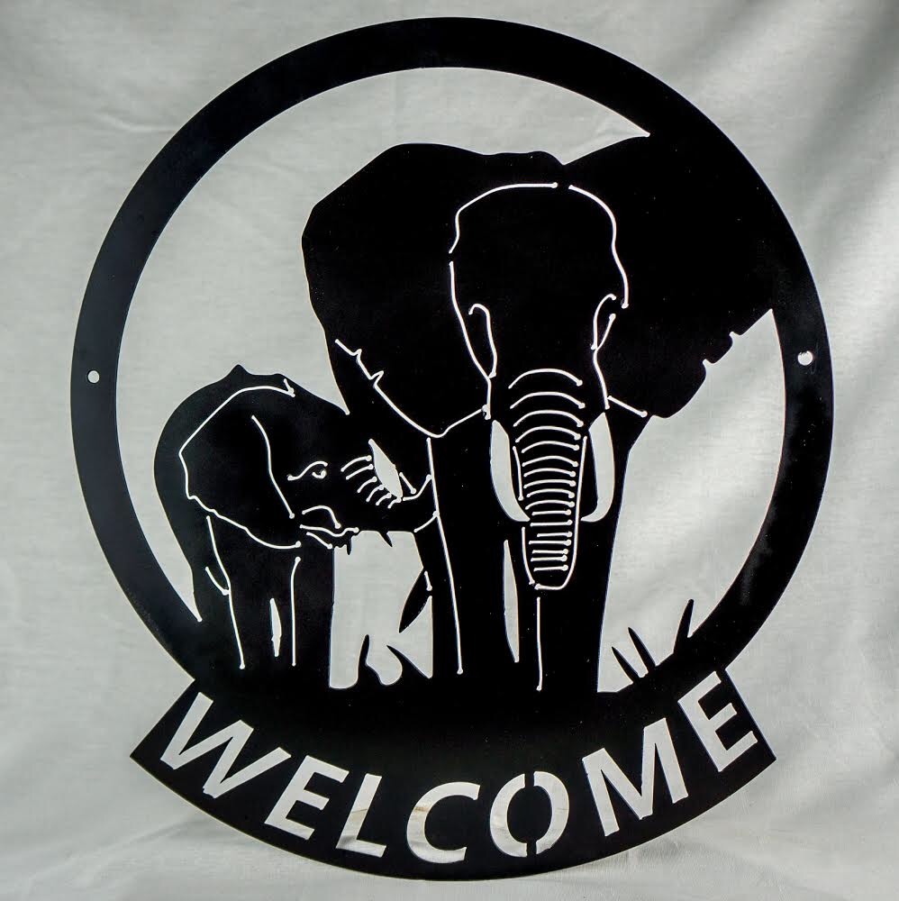 elephant welcome sign