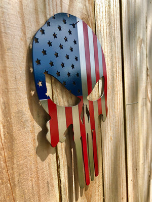 American Flag Punisher Skull
