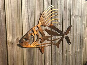 Rooster Fish Sign