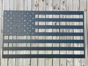 United States Flag - Black