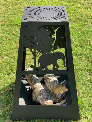 Elephant  Fire Pit - Rectangle Tall