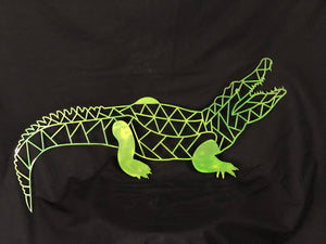 Geometric Alligator Sign