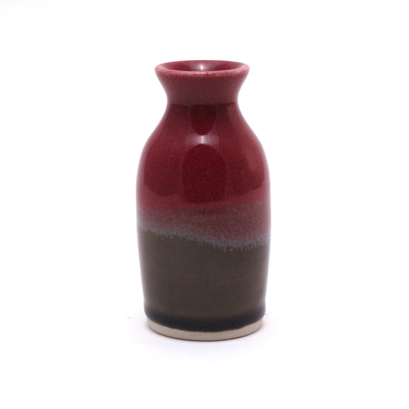 Raspberry and Stone Bud Vase