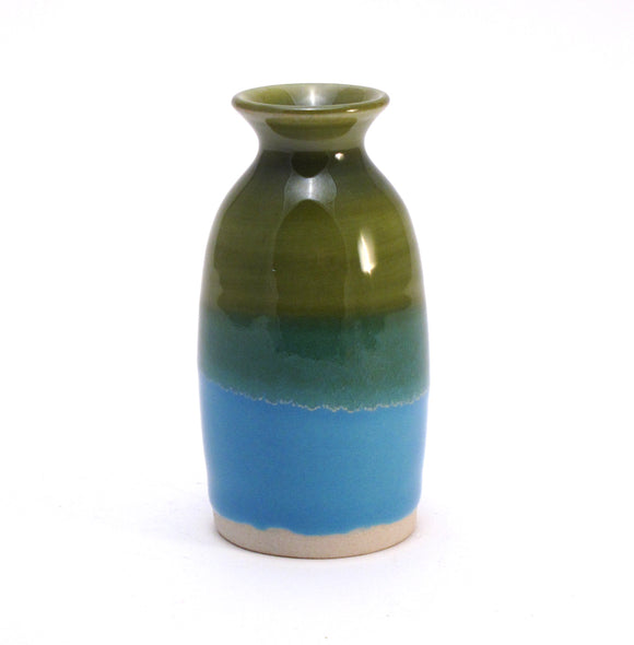 Green and Aqua Bud Vase