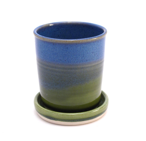 Blue and Green Starter Plant Pot 3.5