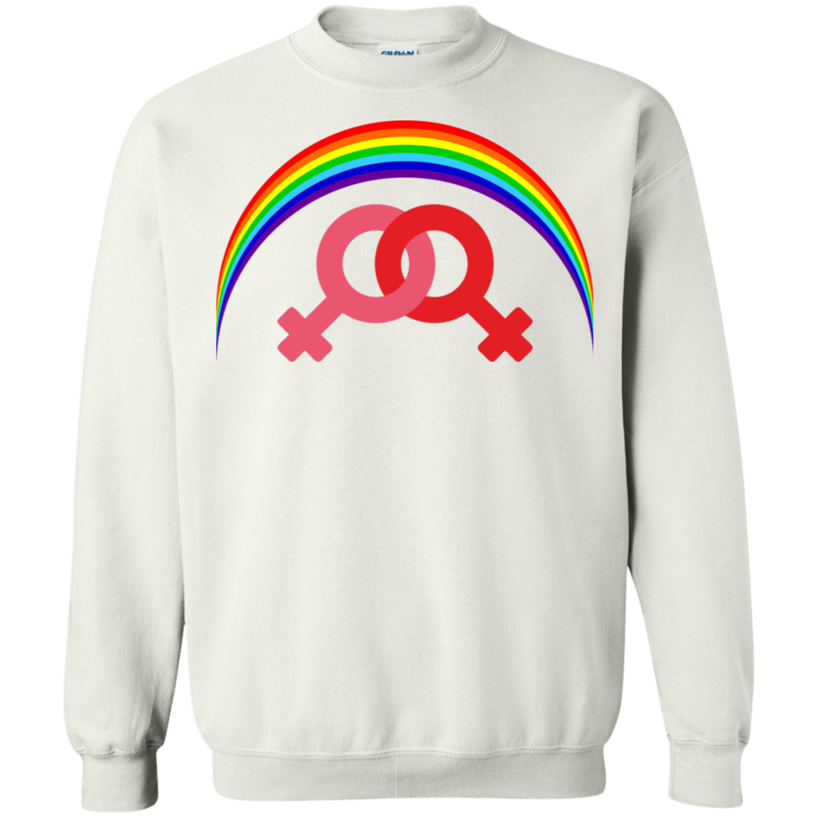 G180 Gildan Crewneck Pullover Sweatshirt  8 oz. / Rainbow Collection Marraige Equality Women