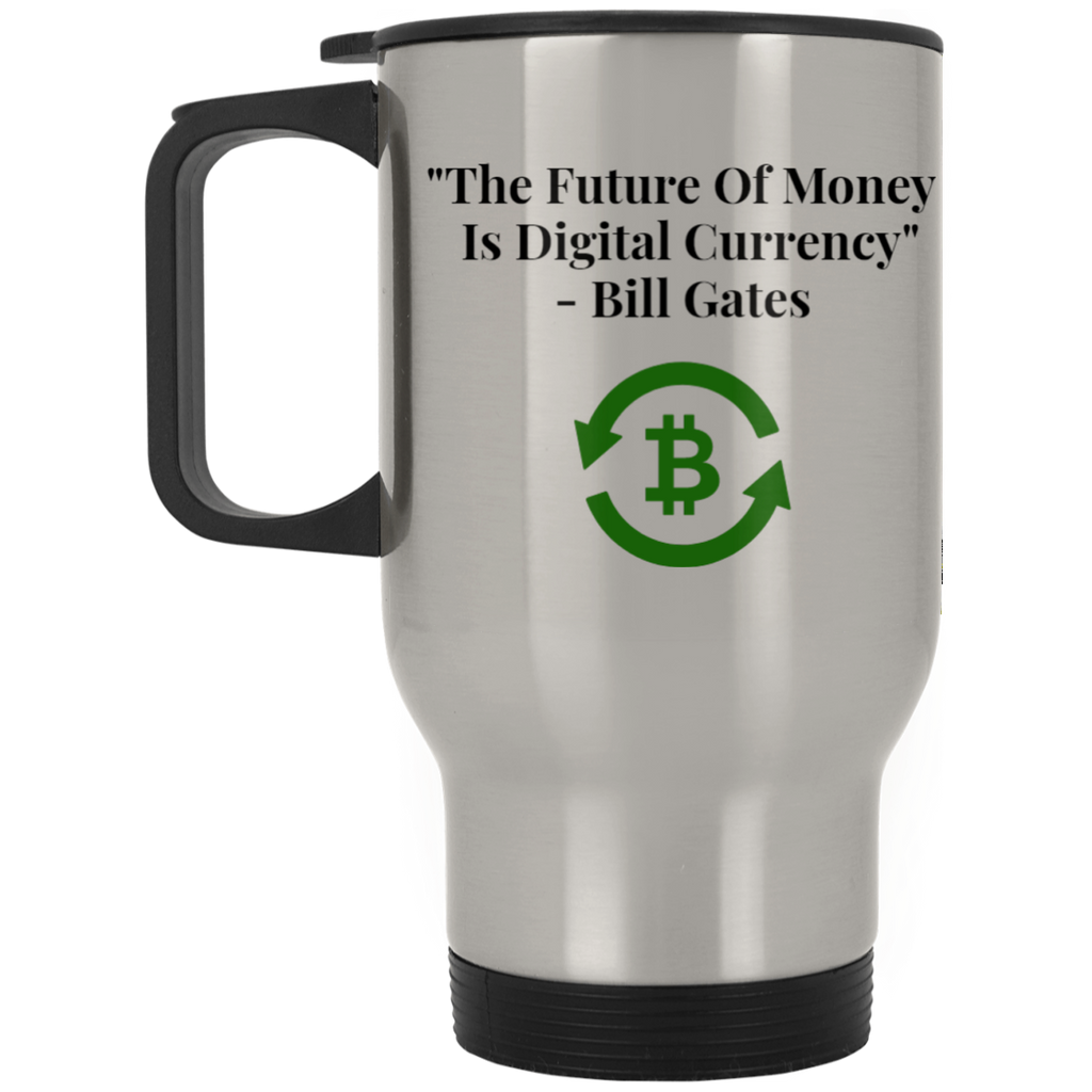 XP8400S Silver Stainless Travel Mug / The Future Of Money - ChicDuds