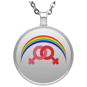 UN4686 Circle Necklace / Rainbow Collection Marraige Equality Women