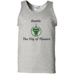 G220 Gildan 100% Cotton Tank Top / Seattle - The City Of Flowers - ChicDuds