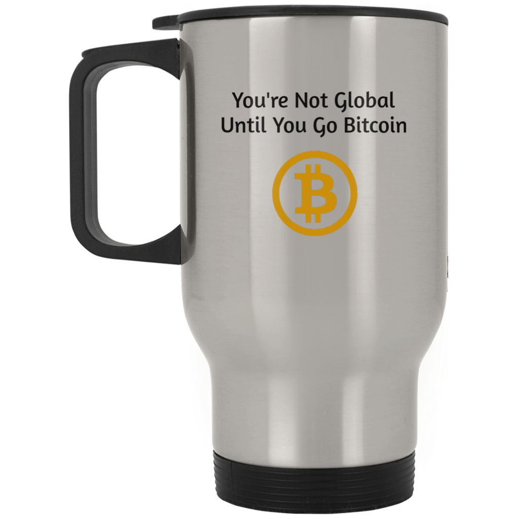 XP8400S Silver Stainless Travel Mug / Bitcoin Global
