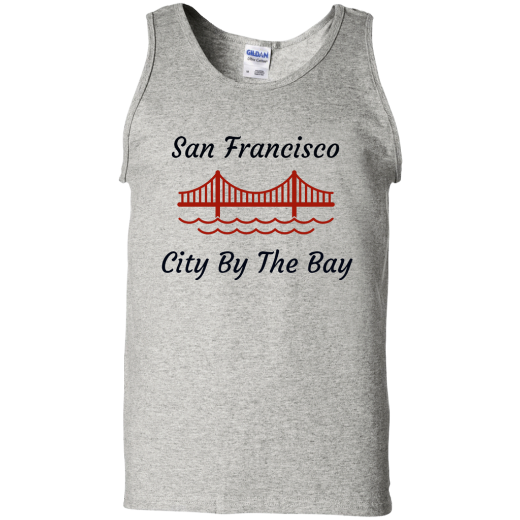 G220 Gildan 100% Cotton Tank Top / San Francisco - City By The Bay - ChicDuds