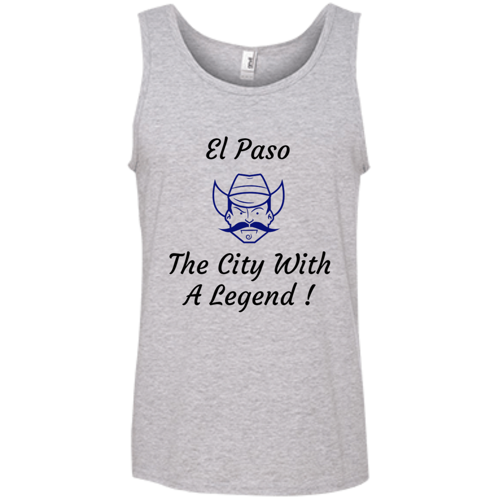 986 Anvil 100% Ringspun Cotton Tank Top / El Paso - The City With A Legend ! - ChicDuds