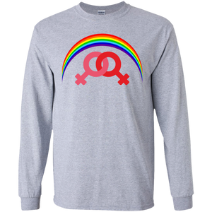 G240 Gildan LS Ultra Cotton T-Shirt / Rainbow Collection Marraige Equality Women