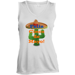 LST352 Sport-Tek Ladies' Sleeveless Moisture Absorbing V-Neck / Cinco de Mayo Catus