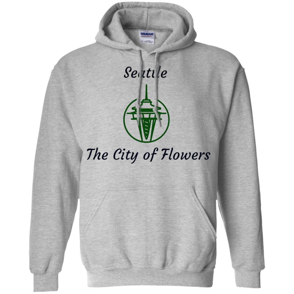 G185 Gildan Pullover Hoodie 8 oz. / Seattle - The City Of Flowers - ChicDuds