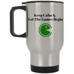 XP8400S Silver Stainless Travel Mug / Keep Calm & Let The Games Begin - ChicDuds