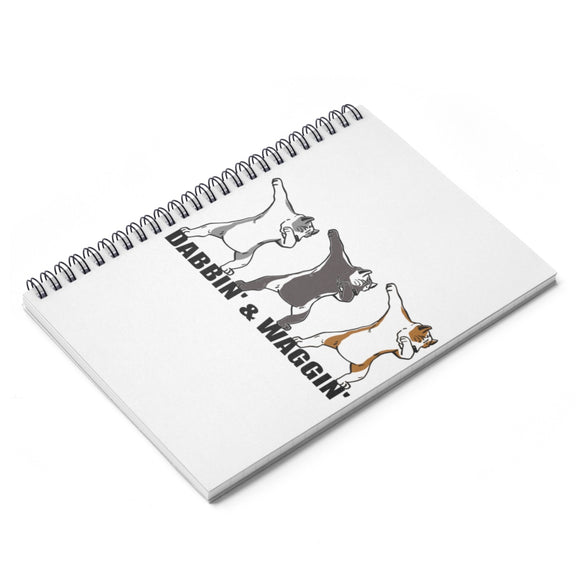 DABBIN' Spiral Notebook - Ruled Line - Metro Pit Trading Co.