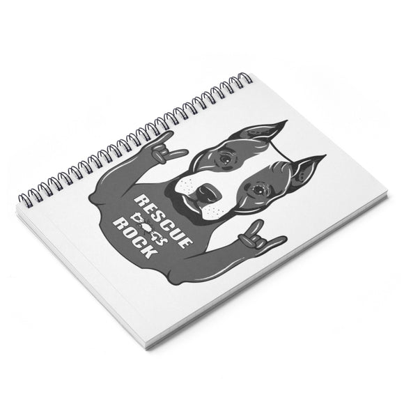 RESCUE DOGS ROCK Spiral Notebook - Ruled Line - Metro Pit Trading Co.