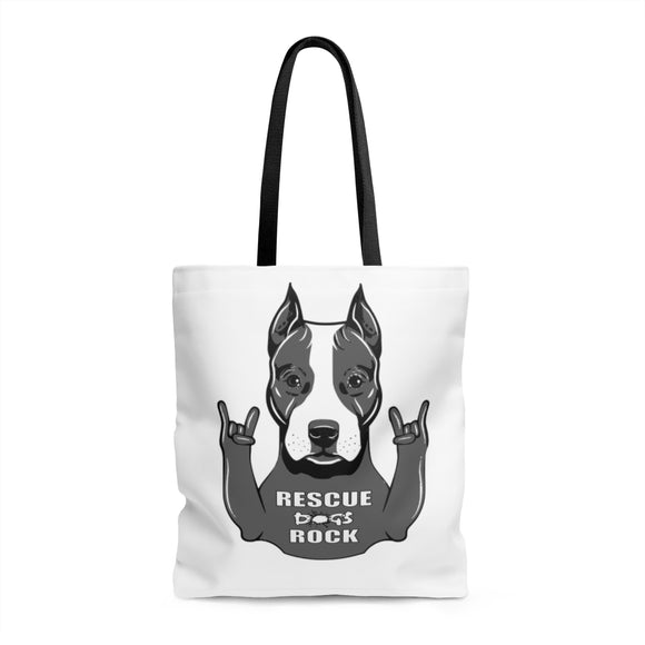 RESCUE DOGS ROCK Tote Bag - Metro Pit Trading Co.