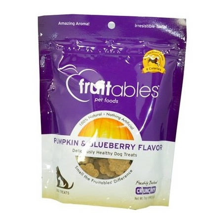 Fruitables Pumpkin & Blueberry Crunchy Dog Treats 7oz - Metro Pit Trading Co.