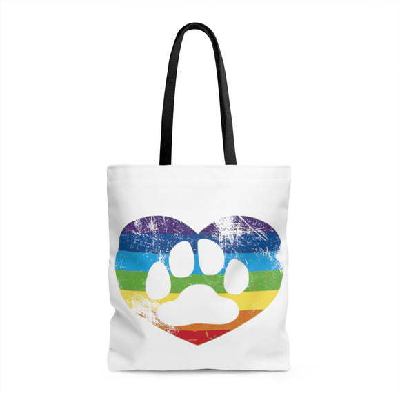 RAINBOW HEART Tote Bag - Metro Pit Trading Co.