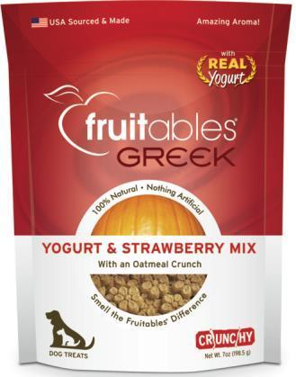 Fruitables Greek Yogurt and Strawberry Flavor Dog Treat 7oz - Metro Pit Trading Co.