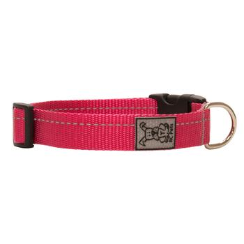 Primary Clip Dog Collar - Raspberry - Metro Pit Trading Co.