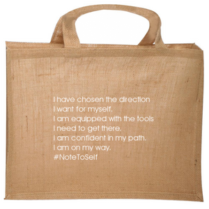 """I Am Going Places"" Jute Tote"