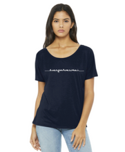 "Load image into Gallery viewer, ""I Am Courageous"" Slouchy Mirrorwear™ Tee (Midnight Navy)"