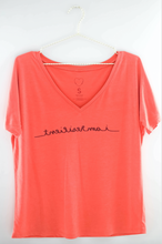"Load image into Gallery viewer, ""I Am Resilient"" Slouchy Mirrorwear™ Tee (Coral)"