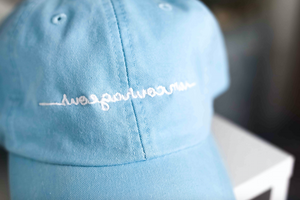 """I Am Courageous"" Mirrorwear™ Cap (Blue)"
