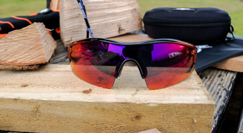 Reevo Red Mirror Lens Safety Glasses