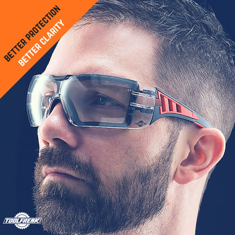 toolfreak rip out safety glasses clear lens with pouch 2