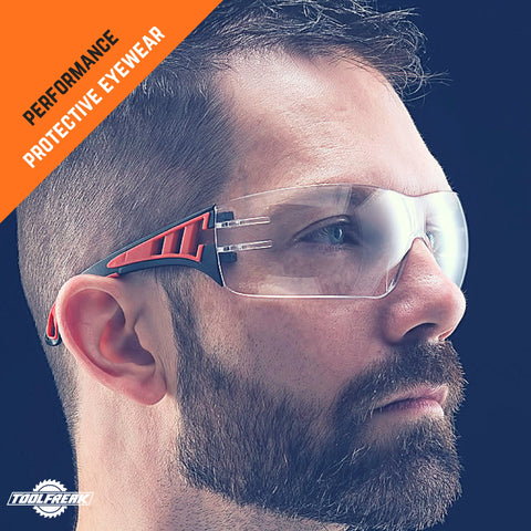 toolfreak rip out safety glasses clear lens with pouch 4