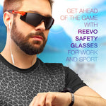 ToolFreak Reevo Safety Glasses Smoke Lens