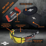 ToolFreak Rip-Out Safety Glasses HD Yellow Lens