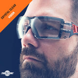 ToolFreak Rip Out Clear Lens Protective Eyewear with Pouch