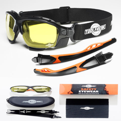 ToolFreak Spoggles Safety Glasses HD Yellow Lens